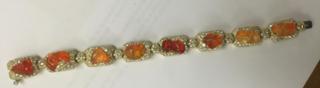 Medium nicholas varney orange fire opal upperline bracelet