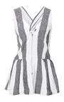 Striped Top With Twist Back by PAPER LONDON for Preorder on Moda Operandi