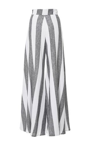 Striped Wide Leg Kelly Pants by PAPER LONDON for Preorder on Moda Operandi