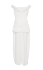Winona Off The Shoulder Jumpsuit by PAPER LONDON for Preorder on Moda Operandi