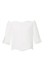 Off The Shoulder Slit Sleeve Top by PAPER LONDON for Preorder on Moda Operandi