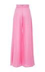 Pink Wide Leg Kelly Pants by PAPER LONDON for Preorder on Moda Operandi