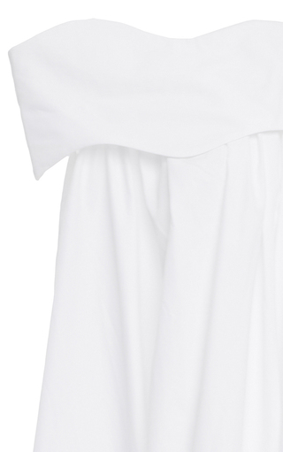 Off The Shoulder Wave Dress by PAPER LONDON for Preorder on Moda Operandi