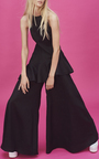 Black Double Peplum Glory Top by PAPER LONDON for Preorder on Moda Operandi