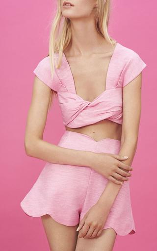 Twist Front Crop Top by PAPER LONDON for Preorder on Moda Operandi