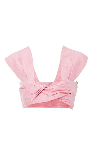 Medium paper london pink twist front crop top