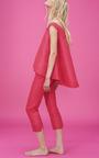 Asymmetric V Neck Top by PAPER LONDON for Preorder on Moda Operandi
