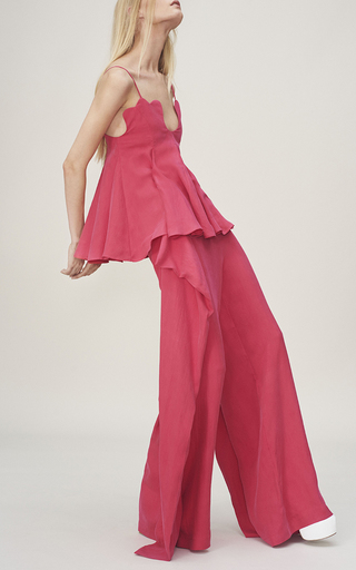 Scala Pleated Petal Top by PAPER LONDON for Preorder on Moda Operandi