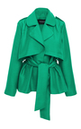 Short Trench Jacket With Wrap Front by PAPER LONDON for Preorder on Moda Operandi