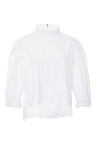 Mock Neck Top With Full Sleeves by PAPER LONDON for Preorder on Moda Operandi