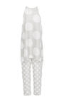 Dot Print Cropped Jumpsuit by PAPER LONDON for Preorder on Moda Operandi