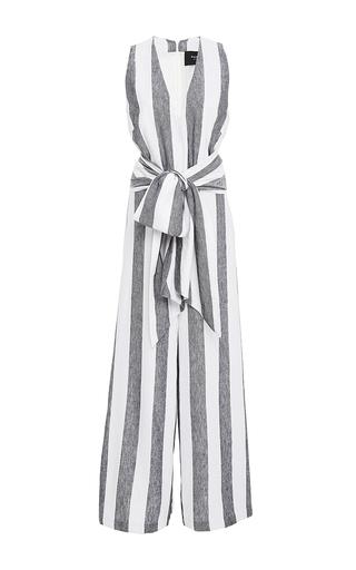 Medium paper london stripe striped wide leg jumpsuit