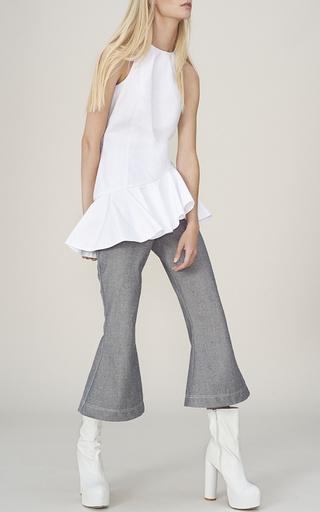 Double Peplum Glory Top by PAPER LONDON for Preorder on Moda Operandi