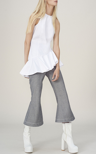 Cropped Flare Pants by PAPER LONDON for Preorder on Moda Operandi