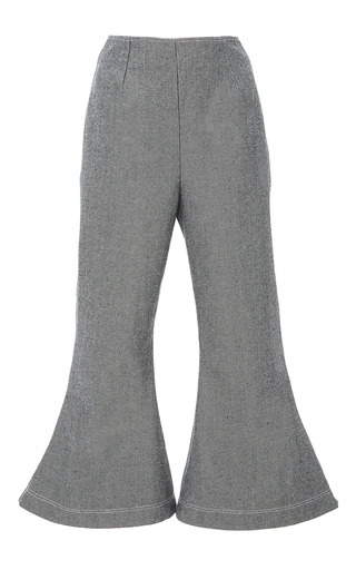 Medium paper london light grey cropped flare pants