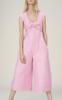 Twist Front Cali Jumpsuit by PAPER LONDON for Preorder on Moda Operandi