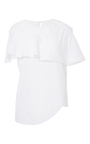 Layered Top With Ruffle Detail by PAPER LONDON for Preorder on Moda Operandi