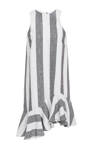 Medium paper london stripe striped dress with ruffle bottom