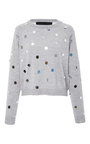 Mirror Embellished Sweater by PAPER LONDON for Preorder on Moda Operandi