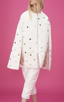 Mirror Embellished Cape by PAPER LONDON for Preorder on Moda Operandi