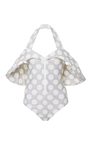 Moss Off The Shoulder One Piece by PAPER LONDON for Preorder on Moda Operandi