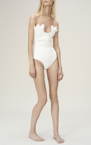Citron Petal Edged One Piece by PAPER LONDON for Preorder on Moda Operandi