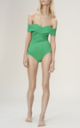 Wave Off The Shoulder One Piece by PAPER LONDON for Preorder on Moda Operandi