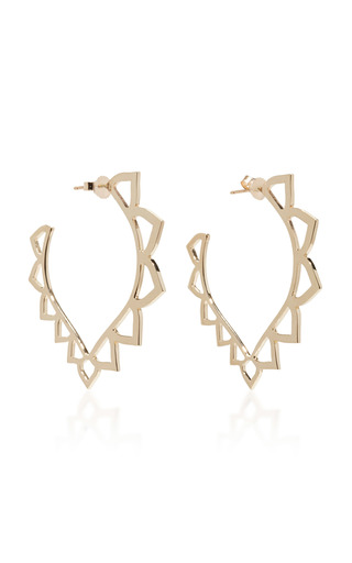 Medium two of most gold open loop hoops