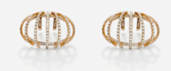 Medium maison dauphin rose gold earrings collection i 2