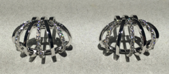 Medium maison dauphin silver earrings collection i 3