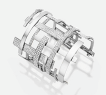 Medium maison dauphin silver cuff m3 collection ii