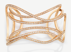 Medium maison dauphin rose gold cuff dauphin x the serpentine galleries