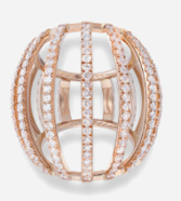 Medium maison dauphin rose gold ring collection i