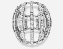 Medium maison dauphin silver ring collection i 2