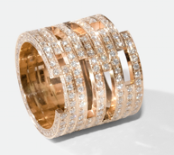 Medium maison dauphin rose gold ring c7 collection ii
