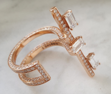 Medium maison dauphin rose gold double ring disruptive series