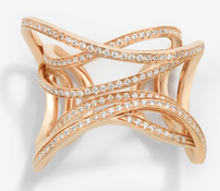 Medium maison dauphin rose gold ring dauphin x the serpentine galleries