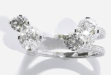 Medium maison dauphin silver ring haute joaillerie