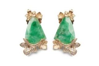 Medium jordan askill gold viola canadensis animated earring