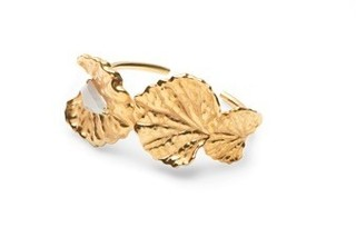 Medium jordan askill gold viola canadensis animated cuff with stone