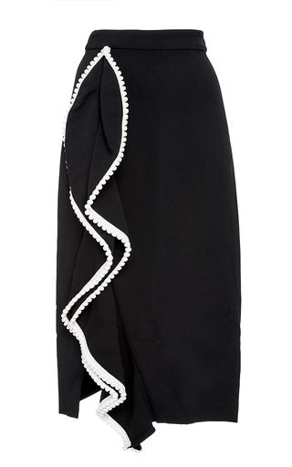 Medium alexis black brendy ruffled pencil skirt