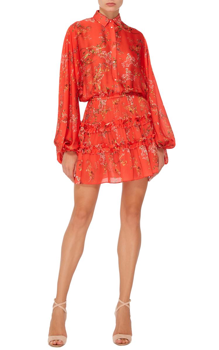 Loe Red Floral Blouson Dress By Alexis Moda Operandi
