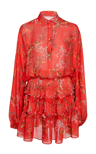 Medium alexis red loe red floral blouson dress