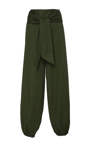 Medium alexis green janes belted pant