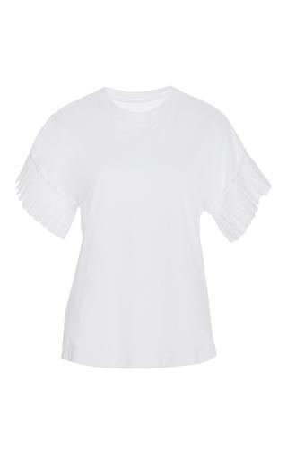 Medium alexis white ziva pleated sleeve top