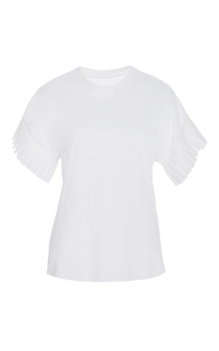 Medium alexis white ziva pleated sleeve top