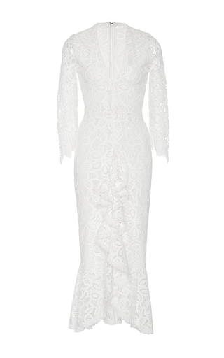 Medium alexis white nadege white ruffled lace dress