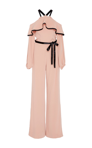 Medium alexis pink nola cold shoulder jumpsuit