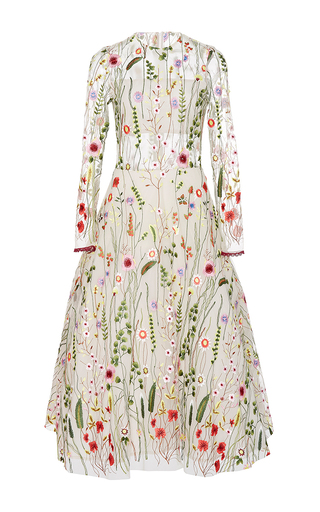 Medium alexis white lou floral embroidered dress
