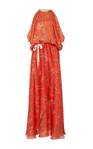 Medium alexis red angia red floral maxi dress